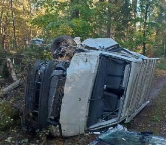 Wypadek na DW 218 w okolicy Piaśnicy: tylko cudem przeżyli i nie odnieśli obrażeń