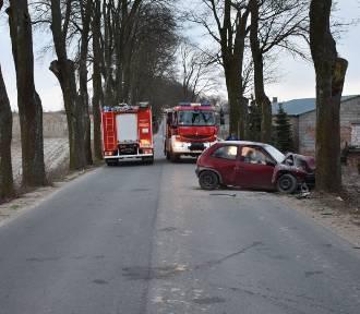 19-latek nie dostosował prędkości jazdy do warunków ruchu i uderzył w drzewo