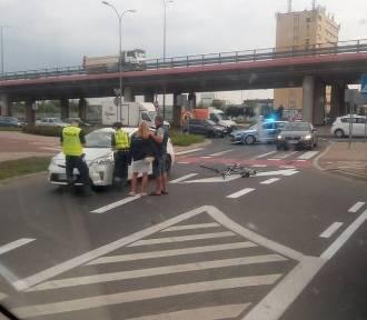 Kobieta potrąciła rowerzystę. Ranny trafił do szpitala