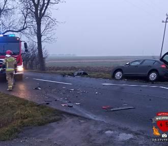 Wypadek w Kraszkowicach. Zderzyły się trzy samochody ZDJĘCIA