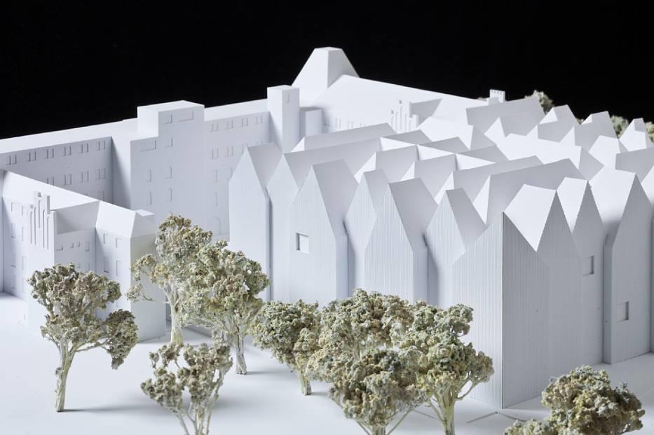 Muzeum Sztuki Nowoczesnej z wystawą architektury
