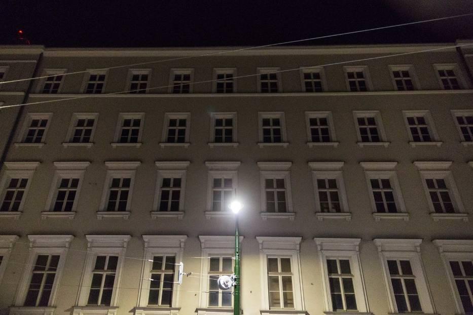 Kraków podczas kwarantanny wieczorem