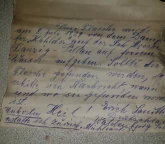 List w butelce dryfował w wodach Bałtyku przez 90 lat! Niesamowite znalezisko rybaka