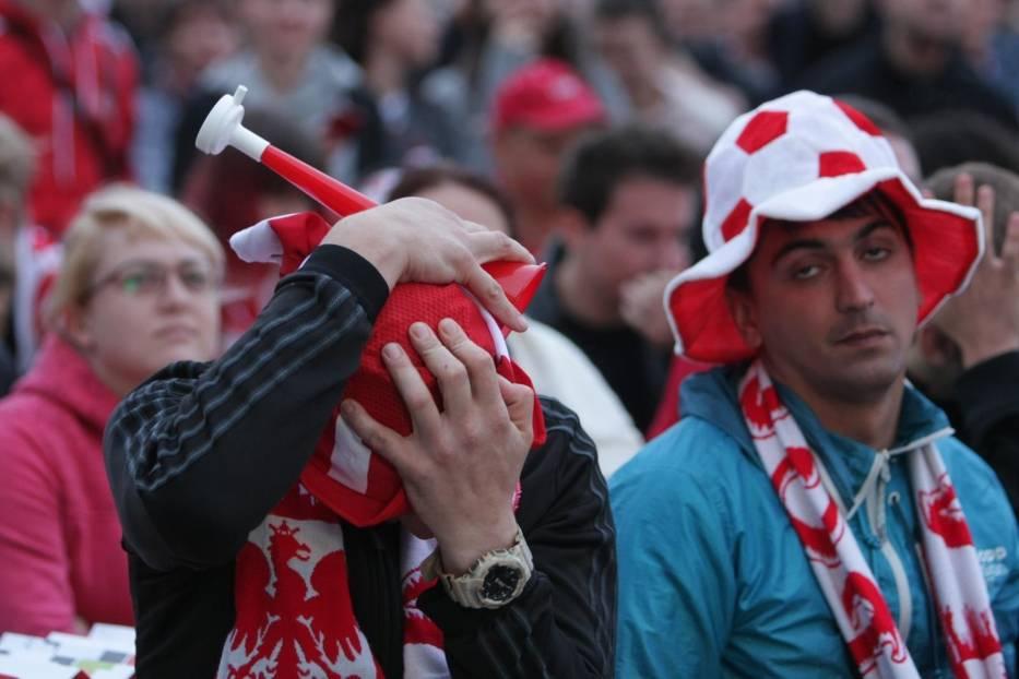 mecz polska kolumbia kibice załamani piłkarze