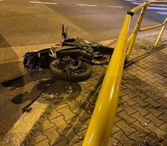 Wypadek motocyklisty w Bytomiu. 15-latek wjechał w autobus
