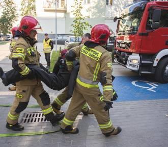 Alarm bombowy, pożar i ewakuacja, czyli ćwiczenia w Nowym Teatrze w Słupsku [ZDJĘCIA]