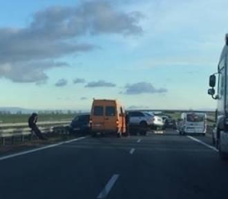 Wypadek na trasie S8 przy węźle Łozina [KORKI, UTRUDNIENIA]