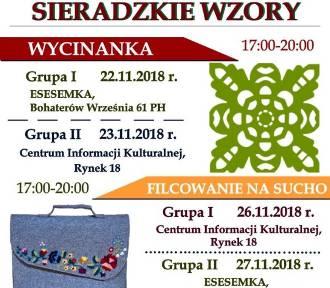 """""""Sieradzkie wzory – wycinanka i haft"""" - nowe warsztaty do wzięcia"""