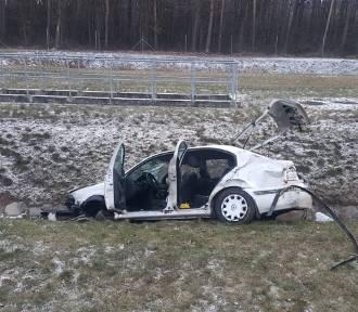 Skoda wypadła z autostrady A4