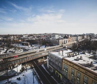 Chorzów z lotu ptaka zimą. Zobaczcie piękne panoramy w obiektywie Marzeny Bugały z DZ