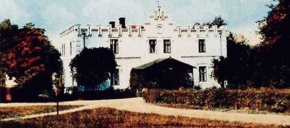Tak wyglądał  zamek-dwór Ballestremów w Rudzie Śląskiej na początku  minionego wieku