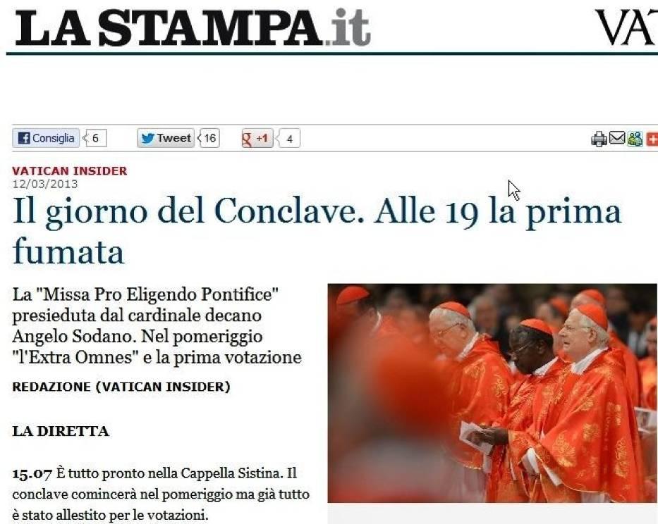 Pierwszy dzień Konklawe - wieści z Watykanu