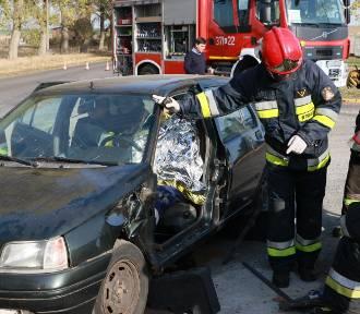 Manewry strażackie w rozlewni gazu w Nowej Niedrzwicy