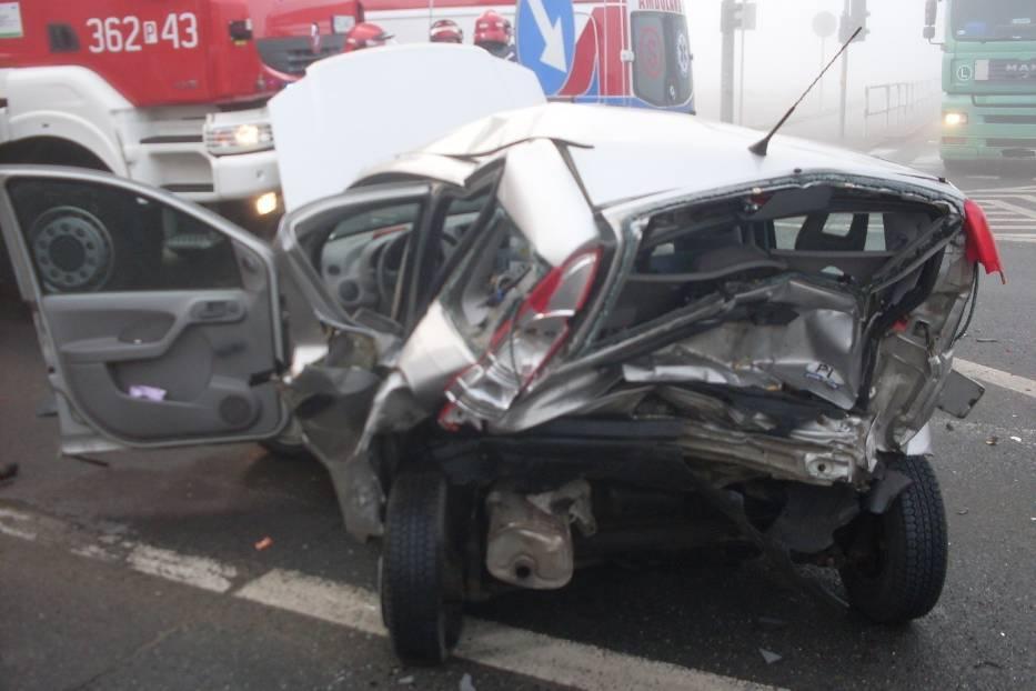 Wypadek w Koninie