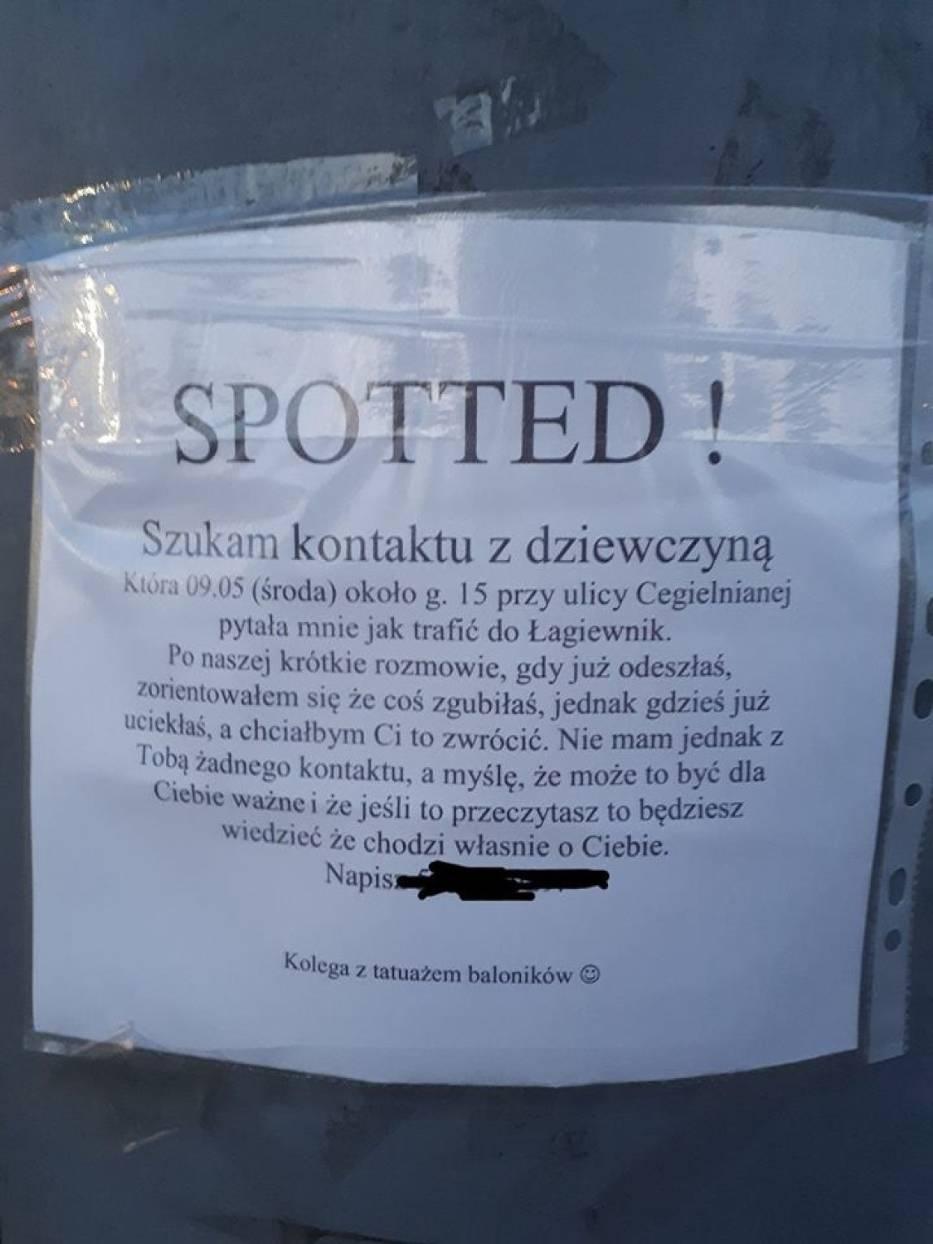 Takie ogłoszenie wisi w różnych punktach Łagiewnik