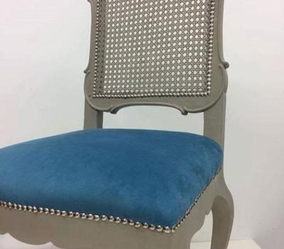 Wybitny Warsztaty malowania i tapicerowania siedziska krzesła Old white IU77