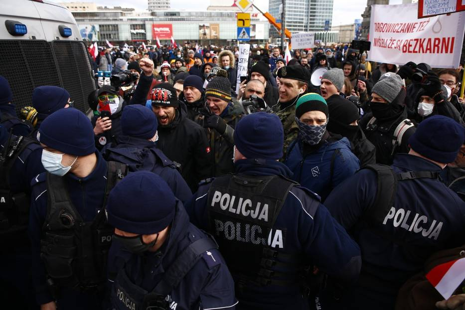 Marsz o Wolność 20 marca 2021 r. w Warszawie