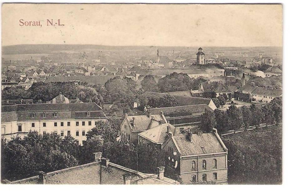 Panorama Żar z wieży ciśnień z terenu szpitala