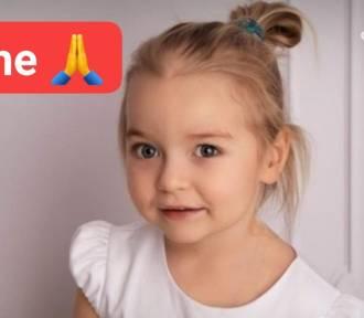 2-letnia Lenka z Obrowa walczy z nowotworem. Pomoc pilnie potrzebna