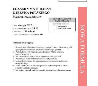 Matura 2017 polski rozszerzony [ARKUSZE pdf, KLUCZ ODPOWIEDZI, pytania]