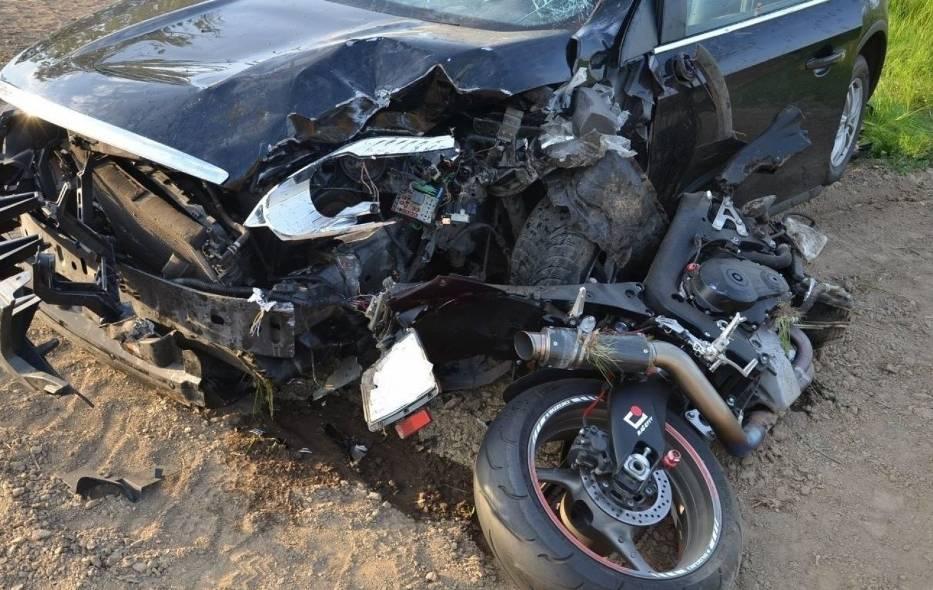 Tragiczny wpadek na DK 45 - trasa na Szonowice