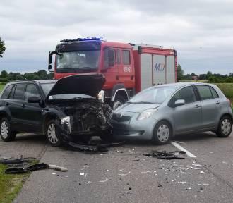 Zderzenie dwóch aut w okolicy Tujska