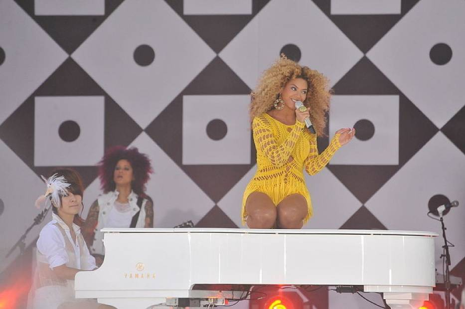Beyonce podczas koncertu w 2011 roku