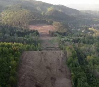 Budowa obejścia Węgierskiej Górki. Tak teraz wygląda z lotu ptaka. Zobacz filmik!