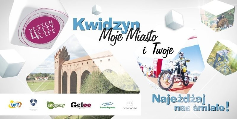 """Wraz z początkiem sierpnia wystartowała kampania promująca Kwidzyn, która jest nagrodą za zwycięstwo w konkursie """"DesigNowe miasto"""""""