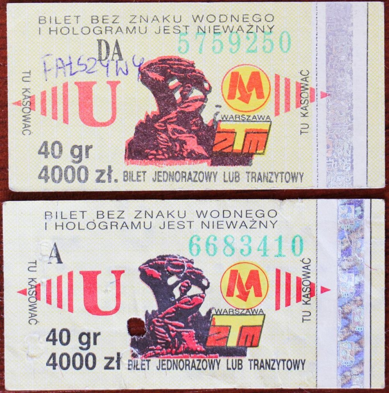 archiwalne bilety ZTM