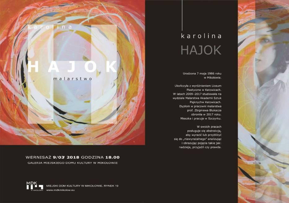 Wystawa w Mikołowie: prace Karoliny Hajok