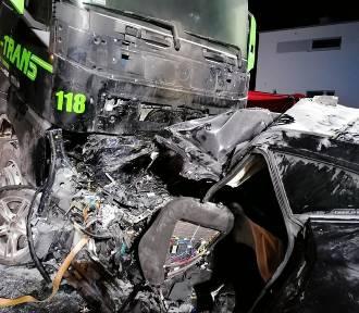 Tragiczny wypadek pod Wrześnią. Zginął kierowca BMW