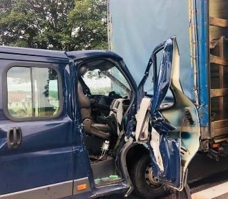 Nie żyje pasażer lawety, która uderzyła w ciężarówkę