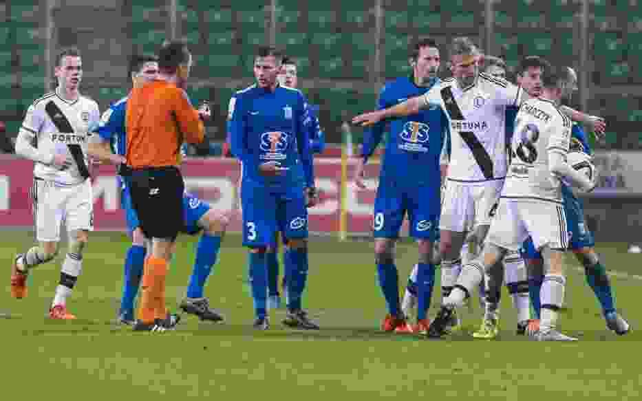 Mecz Legia - Lech: Starcie w końcówce spotkania
