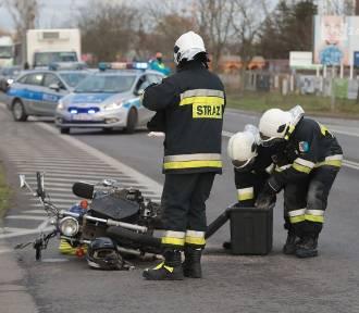 Wypadek w Warzymicach. Nie żyje motocyklista