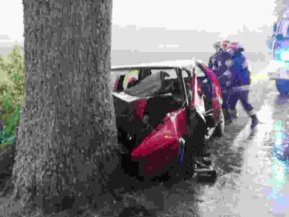 Wypadek w Drewnie