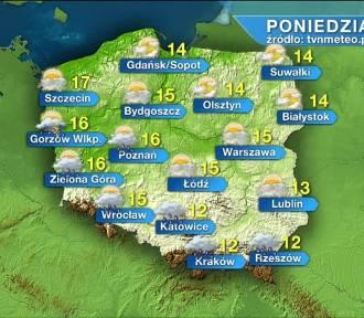 Pogoda na poniedziałek, 19 kwietnia. W poniedziałek deszcz na zachodzie i południu