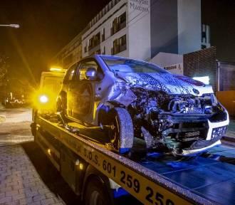 Wypadek na Głogowskiej - ranny kierowca i przechodzień