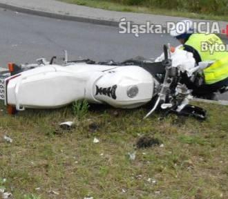 Wypadek motocyklisty w Bytomiu. Ranny 59-latek
