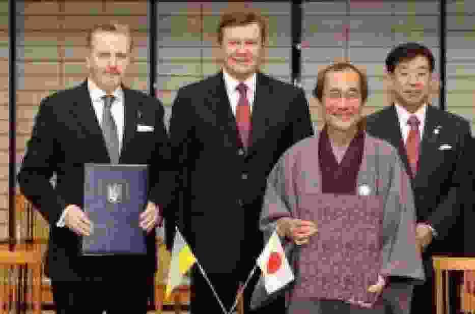 Podpisanie umowy partnerskiej Kijów - Kioto