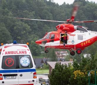 Wypadek w Tatrach. Kobieta upadła z dużej wysokości na skały