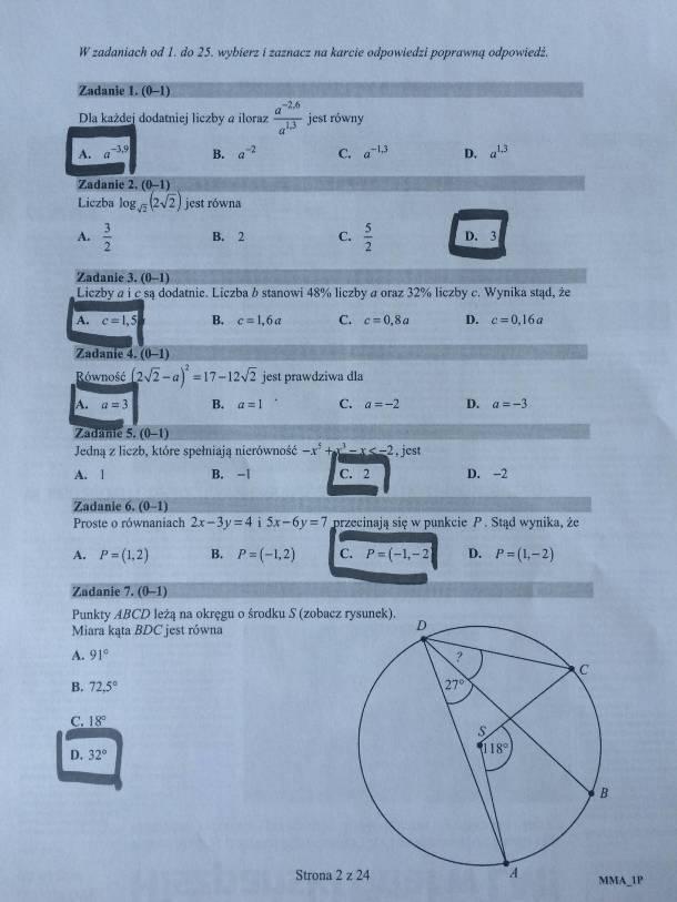 matura z matematyki 2021 arkusz pdf