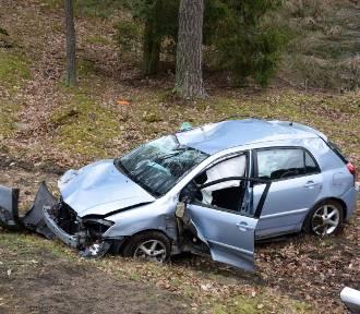 Wypadek koło Dretynia (zdjęcia, wideo)
