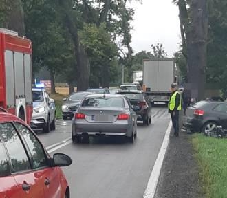 Wypadek w Bądkach. Przyczyną zbyt szybka jazda?