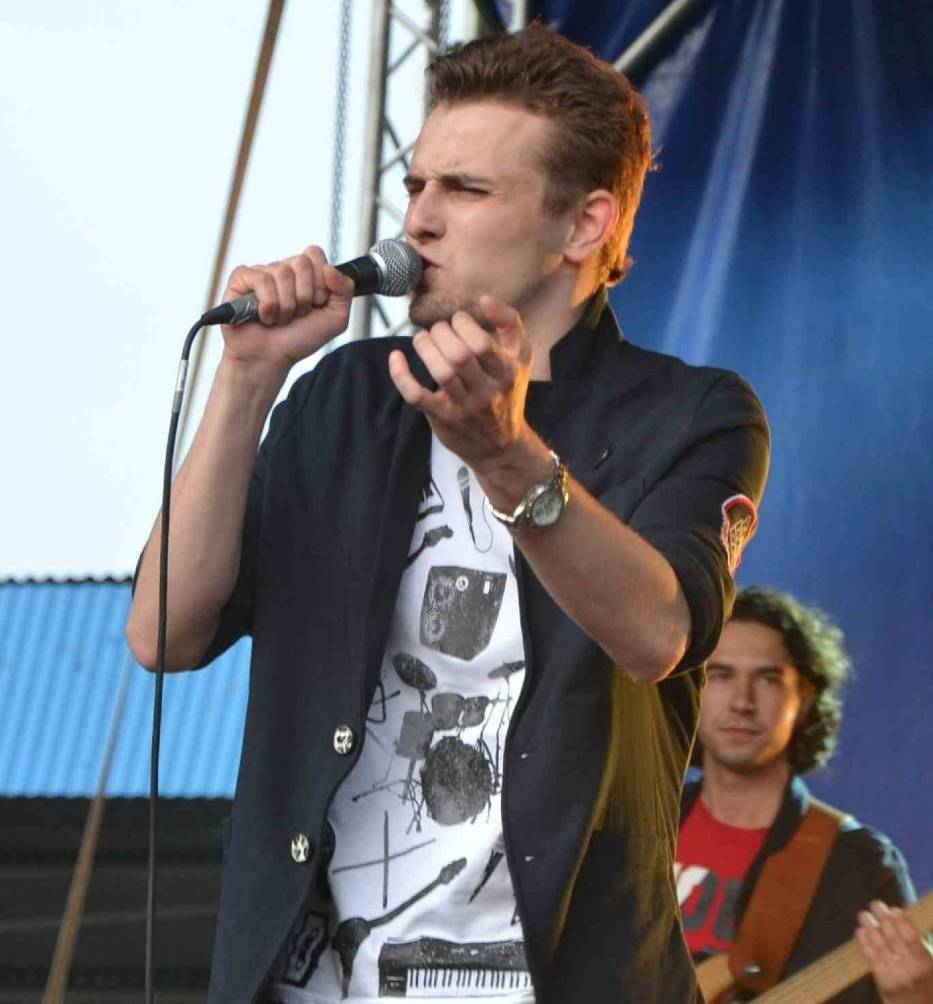Tadeusz Seibert w 2012 roku podczas występu w Malborku