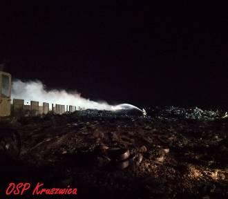 Strażacy z OSP Kruszwica, Pakość i Gniewkowo też walczyli z pożarem składowiska opon