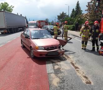 Zderzenie dwóch samochodów w Niedrzwicy. Cztery osoby ranne