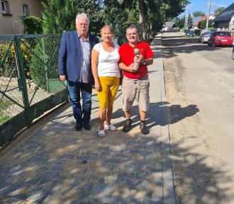 Nowe chodniki w Gminie Kaźmierz wybudowane z Funduszu Sołeckiego