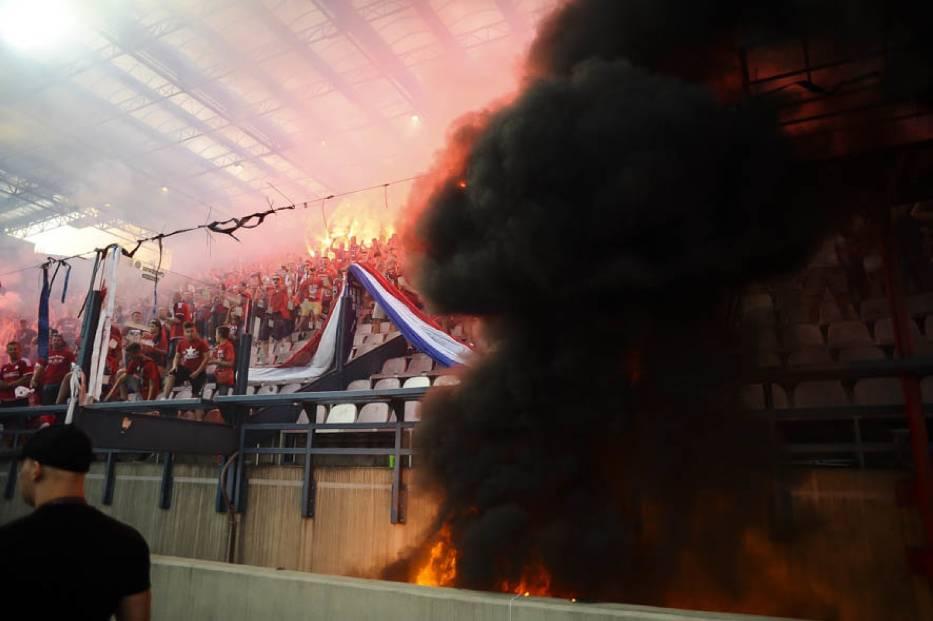 Race i pożar na stadionie Wisły