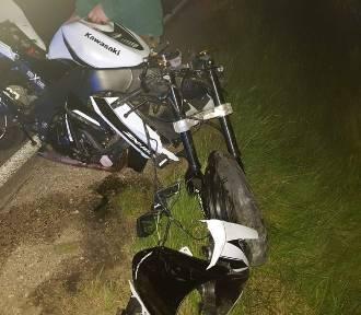 Groźny wypadek w Staszowie. Ranny motocyklista
